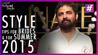Sabyasachi Mukherjee's Quick Tips For Indian Brides | Wedding Fashion |#fame School Of Style