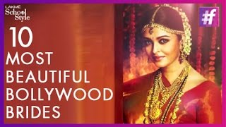 What's Trending - Top 10 Bollywood Brides | Aishwarya Rai | #fame School Of Style