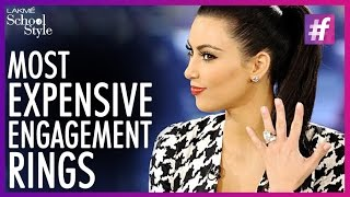 What's Trending 5 Most Expensive Celebrity Engagement Rings | #fame School Of Style