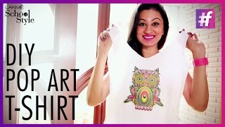 Fun and Easy DIY Pop Art T-Shirt Tutorial | fame School Of Style