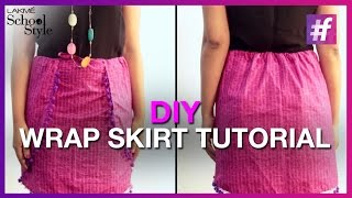 How To Make DIY Wrap Skirt | fame School Of Style