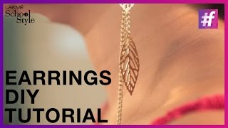 How To Make Trendy DIY Earrings | fame School Of Style