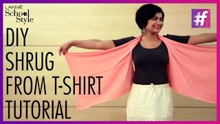 How To Make A DIY Shrug From A T-Shirt | fame School Of Style