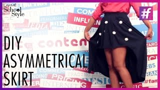 How To Make DIY Asymmetrical Skirt | fame School Of Style
