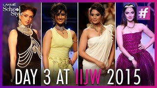 Preity Zinta, Illeana D'Cruz And Kriti Sanon | IIJW 2015 - Day 3 | #fame School Of Style