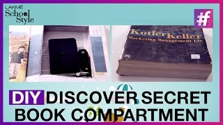 How To Make DIY Secret Compartment In A Book| fame School Of Style