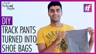 How To Make A DIY Shoe Bag From A Track Pant | fame School Of Style