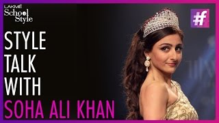 Style Talk with Soha Ali Khan | IIJW 2015 | fame School Of Style