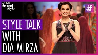 Style Talk With Dia Mirza | Lakme Fashion Week Winter Festive 2015