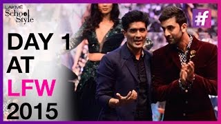 Lakme Fashion Week Winter Festive 2015 - Day 1 | Ranbir Kapoor Turns  Showstopper