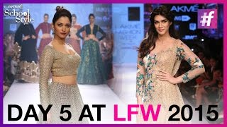 Lakme Fashion Week Winter Festive 2015 - Day 5 | Kriti Sanon And Tamannaah Bhatia Back Stage