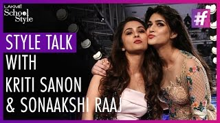 Style Talk With Kriti Sanon and Sonaakshi Raaj | Lakme Fashion Week - Winter Festive 2015