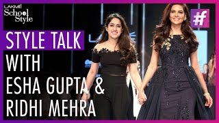 Style Talk With Esha Gupta | Lakme Fashion Week - Winter Festive 2015