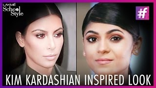 Kim Kardashian Inspired Contouring Makeup Tutorial | fame School Of Style