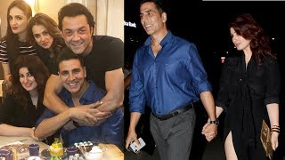 Akshay Kumar Celebrates His 51st Birthday | Full Night Party | Bobby Deol, Twinkle Khanna