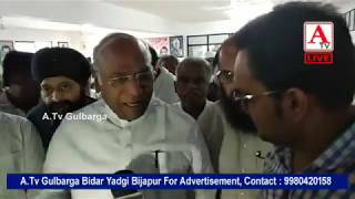 Bharat Band per Mallikarjun kharge Live on A Tv Gulbarga 10-9-2018