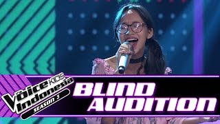 Andini - A Woman's Worth | Blind Auditions | The Voice Kids Indonesia Season 3 GTV 2018