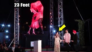 23 Feet Tall Sculpture Kasautii Zindagii Kay 2 Unveiled By Esha Deol And Bharat Takhtani