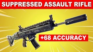 *NEW* SUPPRESSED ASSAULT RIFLE IN FORTNITE! (Fortnite Battle Royale) HIGH ACCURACY BUT LESS DAMAGE