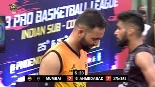 3BL Season 1 Round 6(Mumbai) - Full Game - Day 2(SemiFinal) - Mumbai Hutslers vs Ahmedabad Wingers