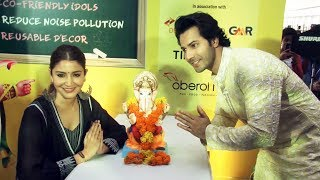 Green Ganesha Launch By Anushka Sharma And Varun Dhawan | Sui Dhaaga Promotions