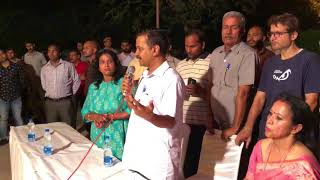 Delhi CM Arvind Kejriwal Interacts with the residents of Sarojini Nagar , New Delhi