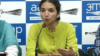 AAP Leader Atishi along with AISA - CYSS Joint PC on ABVP Hooliganism in DUSU Polls