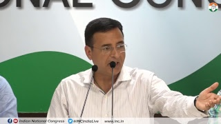 AICC Press Briefing By Randeep Singh Surjewala at Congress HQ on Banking Scam