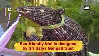 Children try their hands on sculpting eco-friendly Ganesha idols