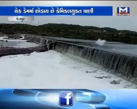 Check Dam polluted in Jetpur