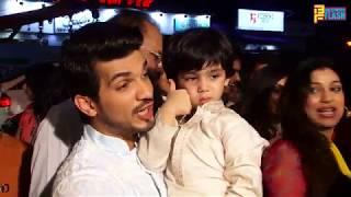 Arjun Bijlani Sweet Moment With Son During Ganesh Pooja - Ganeshotsav 2018