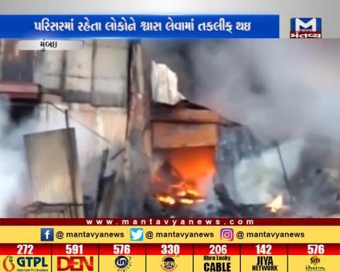 Mumbai: Fire occurred in Plastic Godown in Thane