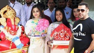 Salman Khan's Ganapati Agaman 2018   Arpita Aayush Alvira   Ganesh Chaturthi 2018