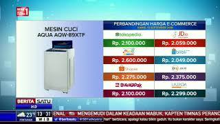 Perbandingan Harga E-Commerce: Mesin Cuci Aqua AQW-89XTF