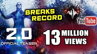 2.0 Official Teaser Smahes All Records, 13+ Million Views | Trending No. 1