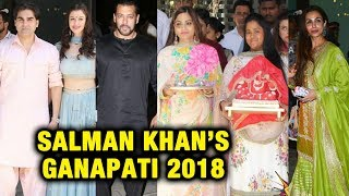 Salman Khan's Ganpati 2018 | Full Video | Arpita Khan, Malaika, Arbaaz Khan, Salim Khan