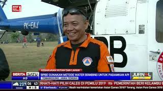 BPBD Gunakan Helikopter Water Bombing Padamkan Api di Gunung Sindoro