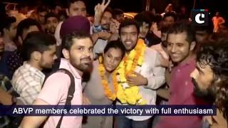 ABVP sweeps DUSU election 2018