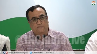 AICC Press Briefing By Ajay Maken on DUSU Results at Congress HQ