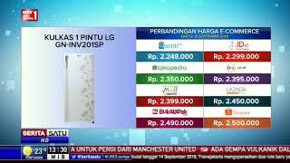 Perbandingan Harga E-Commerce: Kulkas 1 Pintu LG GN-INV201SP
