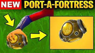 NEW PORT-A-FORTRESS IN FORTNITE WILL BE AMAZING