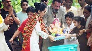 Sanjay Dutt's Ganpati Visarjan 2018 | Eco Friendly Visarjan