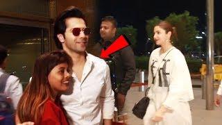 Varun Dhawan And Anushka Sharma SPOTTED At Airport | SUI DHAAGA
