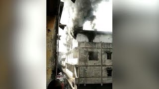 Fire In Embroidery Factory of Surat