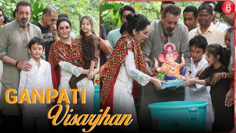 Sanjay Dutt Bids Goodbye To Ganpati Bappa   Ganpati Visarjhan