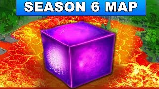 FORTNITE SEASON 6 NEW MAP CHANGES - CUBE GOING TO SEASON 6 CHANGING LOOT LAKE TO LAVA LAKE