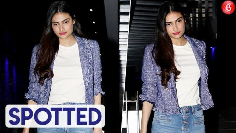 Athiya Shetty Looks Chic For Her Dinner Outing At Hakkasan!