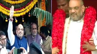 Amit Shah Visits Hyderabad BJP Starts Its Election Campaign In Hyderabad | @ SACH NEWS |