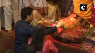 Sachin Tendulkar visits Lalbaugcha Raja Pandal in Mumbai