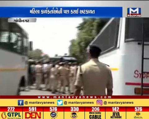 Gandhinagar: Women protestors detained by police